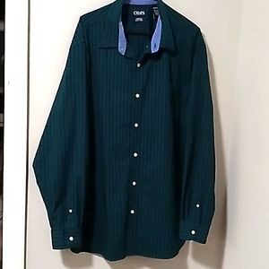 Chaps Long Sleeve Mens Stretch Easy Care Shirt.